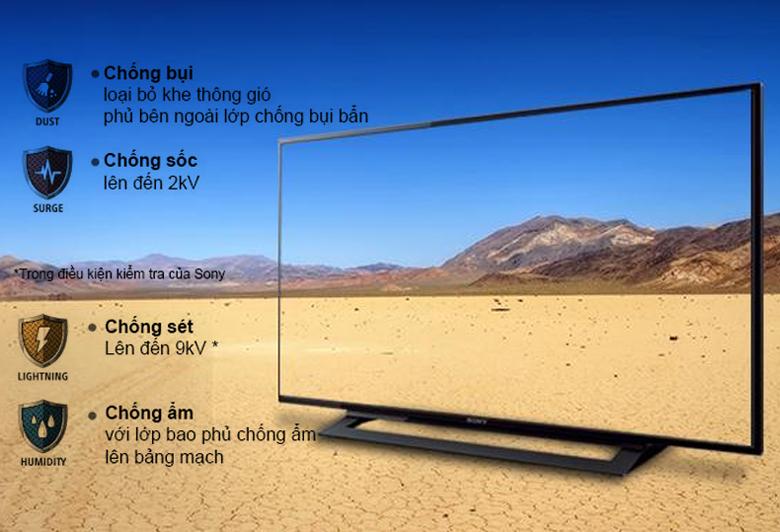 Internet Tivi Sony 48 inch KDL-48W650D - bộ tứ bảo vệ