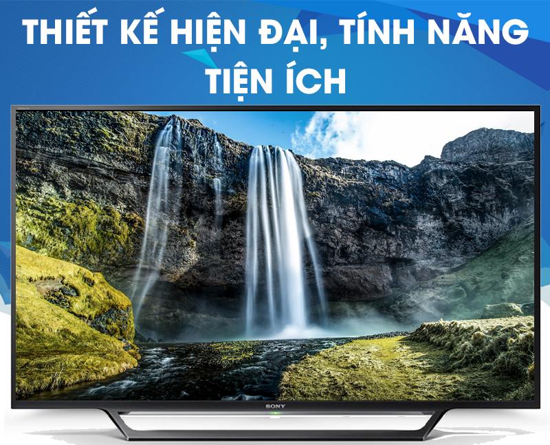 Internet Tivi Sony 48 inch KDL-48W650D - Thiết kế hiện đại, tính năng tiện ích